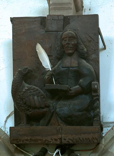 Morville, Shropshire, St. Gregory's church, evangelist:  John