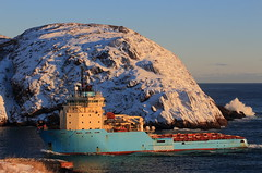 IMG_6032_Maersk Dispatcher in Narrows at sunrise2 (daveg1717) Tags: maerskdispatcher maersk ships thenarrows stjohns
