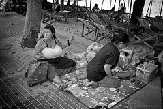An Eye-Popping Display (FimRay) Tags: blackandwhite bw monotone monochrome people woman women female females large enormous oversized breasts boobs chest traditionalstreet street pattaya thailand leica digital m m240 35mm summilux f14 fle asph