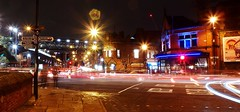 Friday Night on Deansgate. (shushphoto) Tags: urbanlandscape night longexposure neon lancashire traffictrails