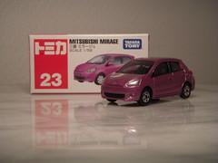Mitsubishi Mirage 1:59 Diecast by Tomica (PaulBusuego) Tags: mitsubishi mirage 159 diecast by tomica g4 thailand south east asia japan jdm japanese compact subcompact hatchback mini 4 door colt space star kei car city attrage primera vehicle four wheel drive fwd scale model toy van tomy takara 2012 トミカ indoor miniature replica 164 econobox economy