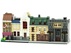 Bank (de-marco) Tags: lego mini town micro city building house modular latlug latvija latvia bank