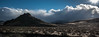 Desert in November (maytag97) Tags: maytag97 idaho desert sage sagebrush brush sunset contrast blue sky cloud skyscape sun lens flare alone empty desolate
