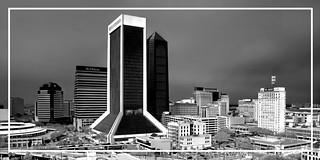View of downtown Jacksonville, Florida, USA