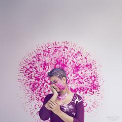 [2/365] (-Paula R. Feito -) Tags: 365project 365daysforachange proyecto365dias fine art fotografiacreativa purple violet lila hand paint pain hurt minimal estudio interior luz artificial selfportrait icatchycolorsviolet woman womanportrait alone gadir gadirbypaularfeito artistic concept