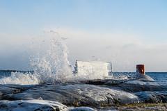 IMG_5238_LR_M (cls-70) Tags: oskarshamn vinter winter is ice östersjön balticsea vågor waves högvatten highwater