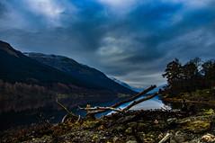 Landslide at Loch Voil (Brian Travelling) Tags: trossachs loch lubnaig voil water sky waterfall pentaxkr pentax scotland scenery landscape