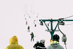 People on the ski lift by Giacomo Vesprini (iN-SiDE) - EYEGOBANANAS collective