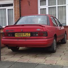 ❅ (uk_senator) Tags: 1991 ford sierra sapphire mk2 red