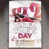 Valentines Day – Premium Flyer PSD Template (psdmarket) Tags: heart holiday light love loveday lover party valentinedayflyer valentinesday valentinesdayflyer valentinesflyer vday