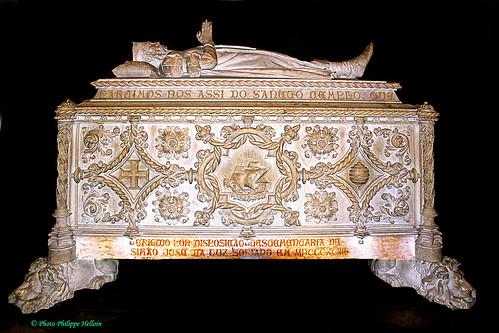 Lisbonne ©Tombeau  deVasco de Gama 1465-1524. Premier navigateur Européen à arriver aux Indes en 1498