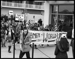 This Is Not A Riot (thereisnocat) Tags: pentax pentax67 165mm protest womensmarch womensmarchap asburypark monmouthcounty newjersey nj fp4