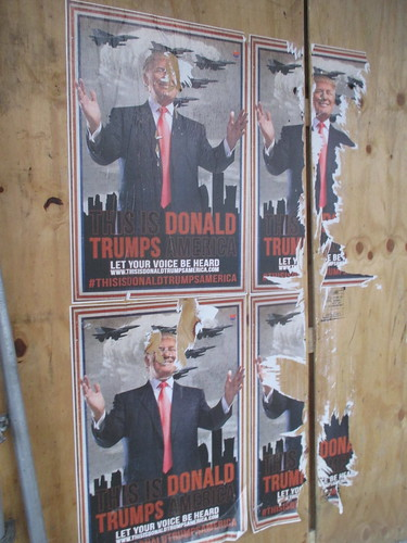 This is Donald Trumps America - sidewalk poster 0963