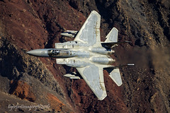 Eagle in the Canyon (Ross Forsyth - tigerfastimagery) Tags: california deathvalleynationalpark panamintvalley starwarscanyon jeditransition rainbowcanyon usa lowlevel military militaryaircraft training 144thfw fresno californiaang airnationalguard eagle f15ceagle