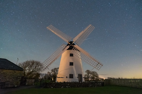'Milling Around Beneath The Stars' - Llynnon Mill, Anglesey