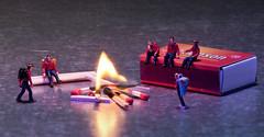 Lagerfeuerromantik (david_drei) Tags: minis faller scouts pfadfinder miniatur fire östereich austria ppö