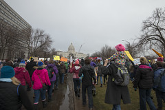 Women's march against Donald Trump (Fibonacci Blue) Tags: stpaul protest march woman women demonstration event dissent feminism outcry feminist activism outrage twincities activist minnesota trump republican people crowd gop liberal
