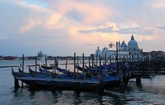 Venice, Italy (mripplinger) Tags: europe sky blue photography canon travel architecture buildings gondola boat water sunset venezia italy venice