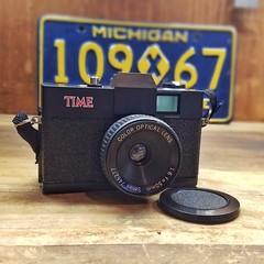 1984/1985 TIME Magazine 35mm film camera (Detroit Imagery) Tags: timemagazine 35mm toycamera lomo lomography nolomo ebayfind timecamera holga135 lomographers tmc time magazine camera