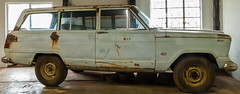 Our family drove in this vehicle when we emigrated in 1972 from the Congo to South Africa (bernardremacle) Tags: jeep wagoneer 4x4 restoration vintage window door rust doorhandle 1963wagoneer