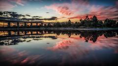 P!NK -Perfoming Live in Melbourne DSC_0597 (BlueberryAsh) Tags: melbourne city nightshot pinklake westgatebridge westgatepark sunset sky clouds cloudsstormssunsetssunrises lake water reflection salt leefilter 6stopper longexposure ndfilter