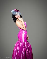 Model Desi in Magenta (Tex Texin) Tags: pink girl hat fashion female model glamour purple designer lace magenta style rubber clothes plastic desi latex hautecouture dfc redwhiteandpink americanaapartments designerfashioncircle fashiontrunkshow