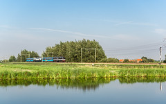 EETC 1252 met Panorama Rail Express  - Driebruggen/Hekendorp (F. Berkelaar) Tags: railroad train landscape nederland zug nl bahn landschaft trein landschap zuidholland hekendorp driebruggen 1252 eetc ratio169 euroexpresstreinchartereetc euroexpresstreincharter railpromo panoramarailrestaurant panoramarailexpress