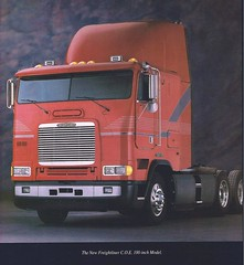 1993 Freightliner 100-inch flat roof. (PAcarhauler) Tags: tractor semi coe freightliner cabover