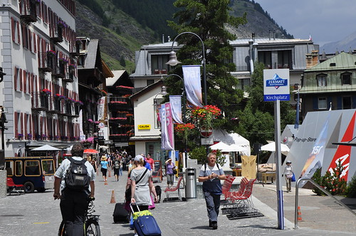 Busy street of Zermatt