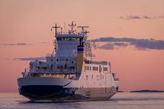 Ferry Crossing at Dusk (Kurt Evensen) Tags: sunset sea sky norway ferry boat ship outdoor dusk vessel shore maritime vehicle vestfold bastyfergen