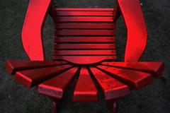 red chair 2 (samurai armour) (Mr.  Mark) Tags: red color colour photo chair stock samurai muskoka armour edit markboucher