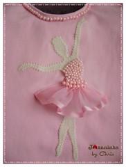 bailarina body (Joanninha by Chris) Tags: baby handmade rosa beb bailarina bordado feitoamo aplicaodetecidos decoraoparameninas