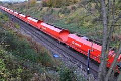 Askham Tunnel (GBRf 66702) Tags: uk red england stone canon wagon eos diesel db locomotive dslr nottinghamshire wagons midlands dbs retford notts eastcoastmainline eastmidlands schenker mainline class66 hka askham ecml 1244 100d 66144 dbschenker scunthorpetrentyard actonyard 6v44 askhamtunnel tunnelloco 6v441244scunthorpetrentyardactonyard
