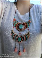 """Colar comprido """"Berbere"""" (colecção Outono 2015) (GataPreta Artesanato) Tags: necklace handmade crafts bijuteria necklaces bijuterias bijuteriaartesanal statementnecklace maxicolar maxicolares"""
