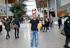 Deer to be different (helenebrodin) Tags: school boy people favorite man lines animal oslo norway contrast canon person eos cool different view follow line deer busy health views dear bi depth contrasts blury nydalen schoolday standingout conture nautral