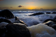 Seafoam Sunset 4 (ArdieBeaPhotography) Tags: ocean sunset sea sky beach thames clouds reflections evening coast rocks surf waves gulf dusk photographers shore foam greater firth gloaming hauraki tikapa