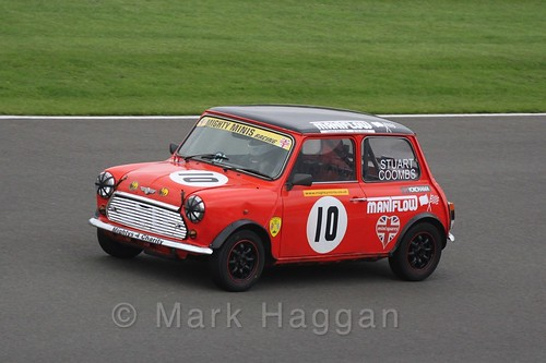 Stuart Coombs in Mighty Minis at Donington Park, October 2015