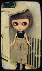 Remy dressed in newsboy chic...