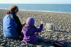 Winter watch! (little-acorns) Tags: beach tv junk discarded ayres isleofman manx