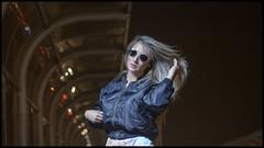 Romina Iza (MikeJoints) Tags: street peru fashion night umbrella glasses model flickr lima blonde parabolic profoto flickraward flickraward5 flickrawardgallery