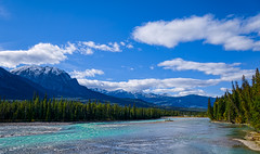 Athabaska River (martincarlisle) Tags: trees sky canada mountains clouds rockies alberta rivers rockymountains forests jaspernationalpark canadianrockies photoninja athabaskariver sonylenses sonycameras
