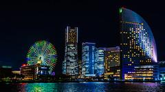 Minatomirai, Yokohama, Japan (aotaro) Tags: queensplaza minatomirai ferriswheel landmarktower yokohama fe1635mmf4zaoss ilce7m2 cosmoclock 万葉倶楽部 japan cosmoclock21 横浜 intercontinentalhotelyokohama