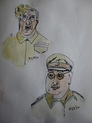 Sketchbook Dad's Army (cheesemoopsie) Tags: sketch croquis watercolor aquarelle dadsarmy