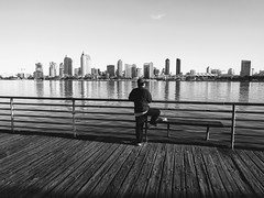 #coronado #sandiego #ferrylanding #fishing #calm #water #b&w #black&white #skyline (rohanbhatia2) Tags: calm b skyline black ferrylanding fishing sandiego coronado water