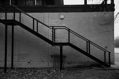 Stairs (Adam O'Connell) Tags: new topographics angles lines contrast oxford river hughs boathouse