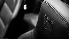 Porsche in depth (Jannik K) Tags: abstract porsche bw sw schwarz weis black white sitz seat deep focus samsung nx1 essen motorshow racing cars auto car autos