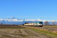 Il merci e il Monviso (Paolo Brocchetti) Tags: verzuolo trenitalia cargo monviso d445 merci treno ferrovia rail piemonte paolobrocchetti savigliano