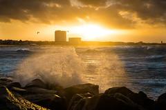 Wild December (--Conrad-N--) Tags: baltic sea sony sunset water waves wave warnemünde splash december