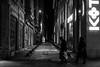 crossroads we miss / heavier than bags (Özgür Gürgey) Tags: 2016 24120mm bw d750 darkcity nikon architecture candid crossroad lowlight night street istanbul turkey