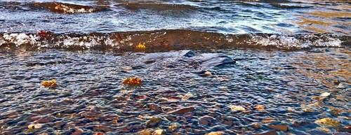 Waves on padarn lake.
